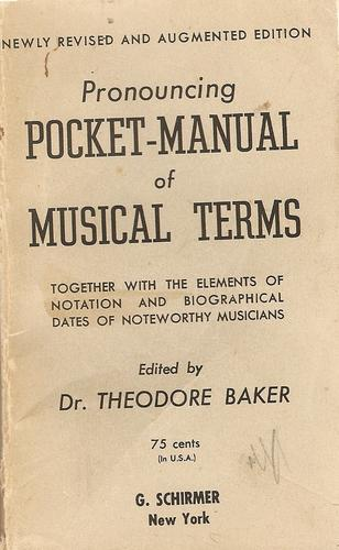 Pronouncing pocket-manual of musical terms