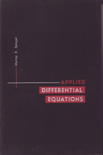 Applied differential equations.