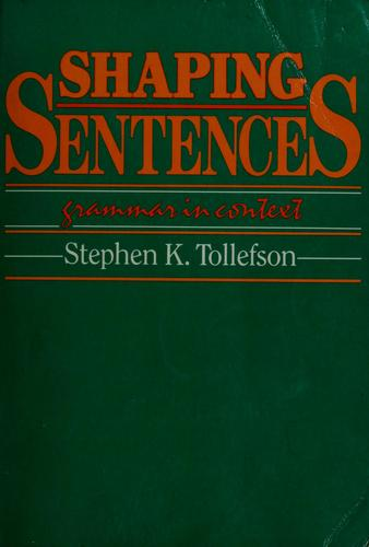 Shaping sentences