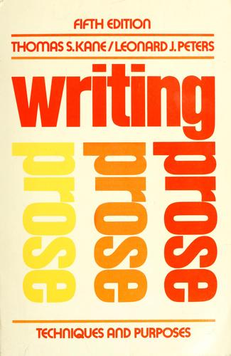 Download Writing prose