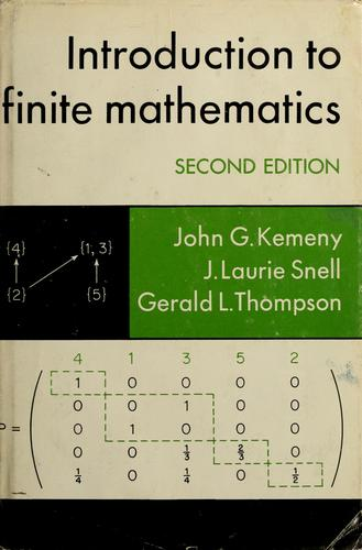 Introduction to finite mathematics