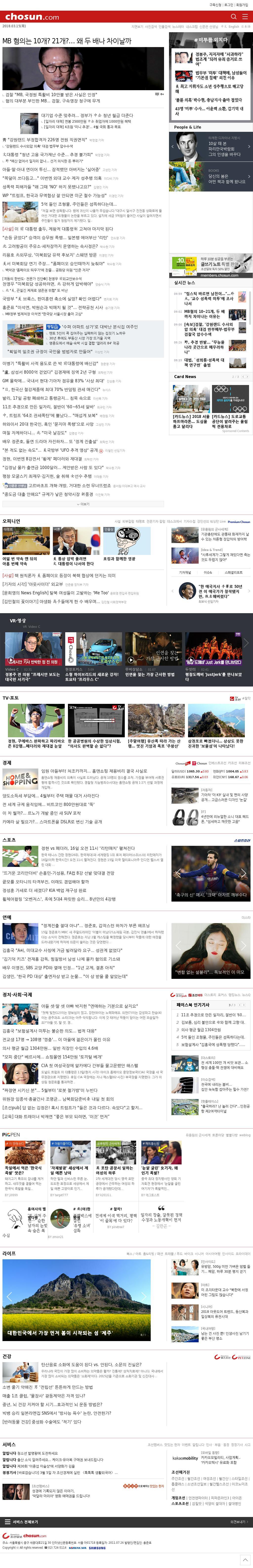 chosun.com at Thursday March 15, 2018, 12:01 p.m. UTC