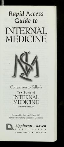 Rapid access guide to Internal medicine by O'Kane, Patrick M.D., O'Kane, Patrick M. D.