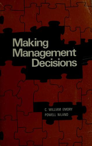 Making management decisions by William Emory
