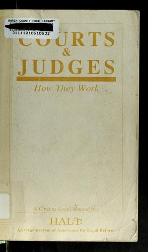 Courts & judges by Katherine J. Lee