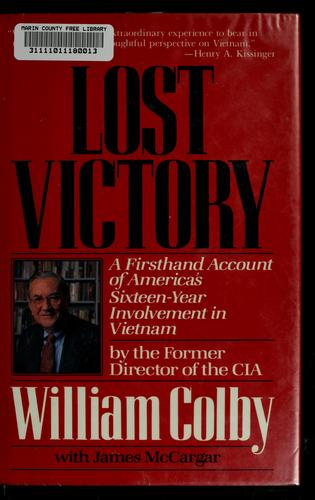 Lost victory by William Egan Colby