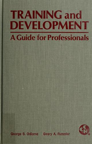 Training and development by George S. Odiorne